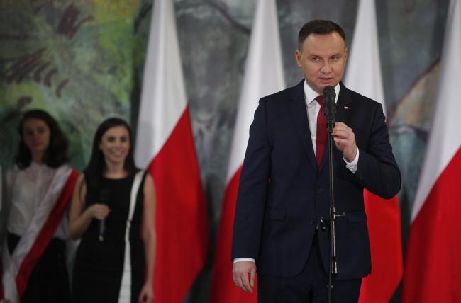 Президент Польщі Анджей Дуда, 13 листопада 2017 року