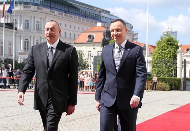 Azerbaijani President Ilham Aliyev and Polish President Andrzej Duda. Photo: Krzysztof Sitkowski/KPRP.