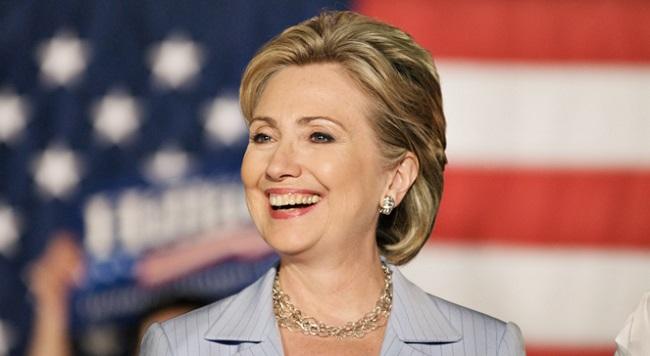 Кандидат от Демократической партии на президентских выборах в США Хиллари Клинтон.
