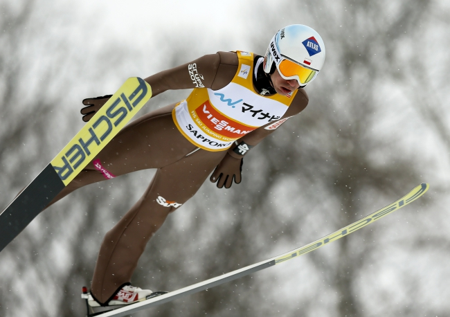 Poland's Kamil Stoch. Photo: EPA/Kimimasa Mayama.