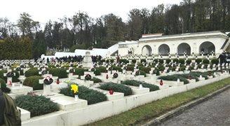 Uroczystości na Cmentarzu Orląt Lwowskich