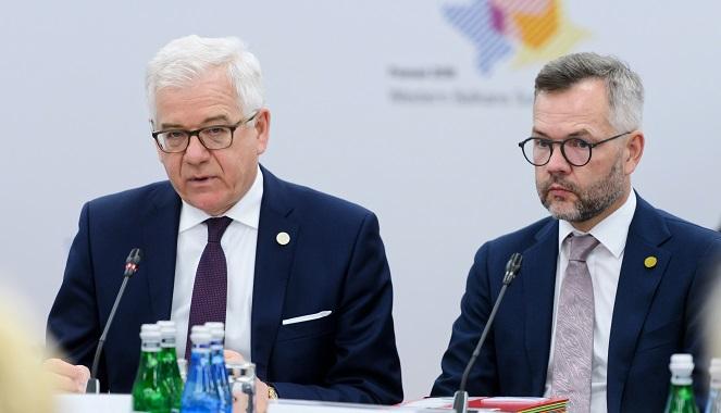 Министр иностранных дел Польши Яцек Чапутович на саммите Западных Балкан