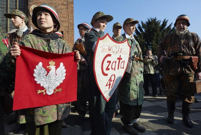 Марш памяти несгибаемых солдат в Гданьске
