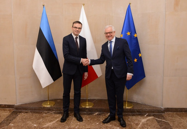 Estonian Foreign Minister Sven Mikser and Polish Foreign Minister Jaczek Czaputowicz. Photo: Estonian Foreign Ministry (CC BY 2.0)