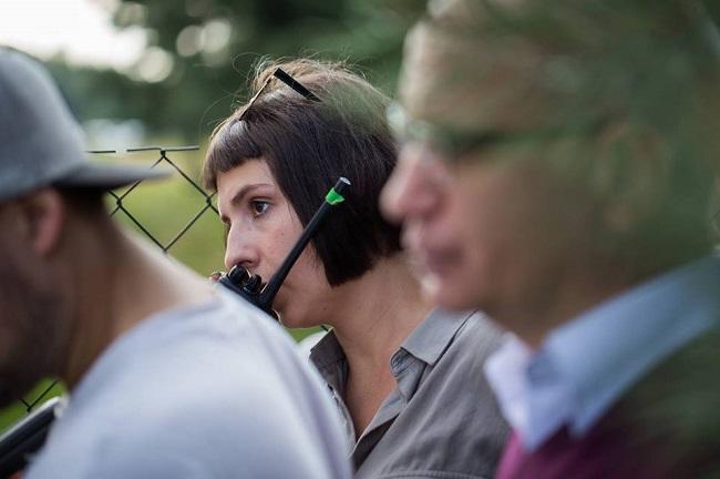 Мара Тамковіч падчас працы над фільмам
