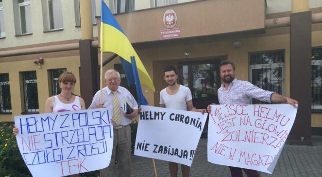 Протест проти затримання українця, який перевозив в Україну бронежилети