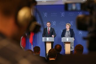 President Duda discusses bilateral relations on Norway visit