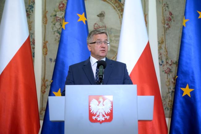 President Bronosław Komorowski on Wednesday. Photo: PAP/Jacek Turczyk