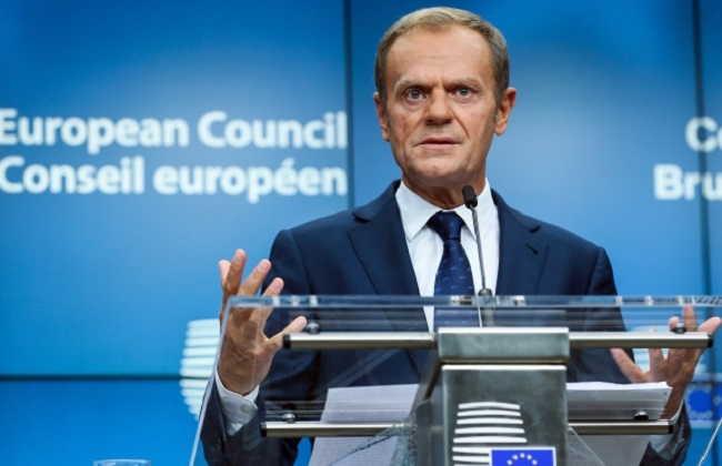 Former Polish PM and European Council President Donald Tusk. Photo: EPA/STEPHANIE LECOCQ