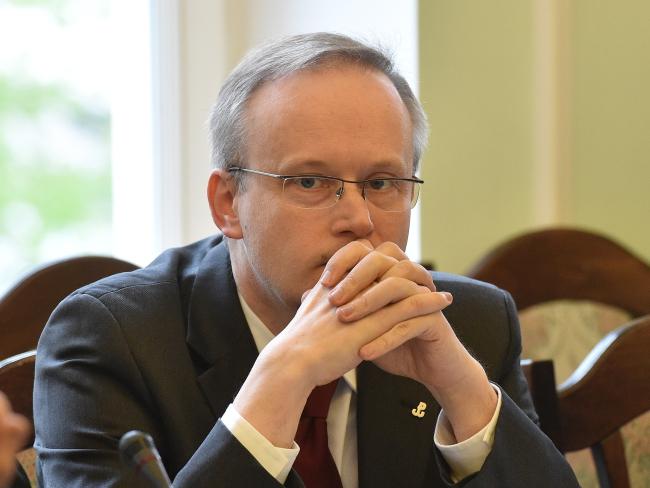 Глава Института национальной памяти Лукаш Каминский. Фото: PAP/Radek Pietruszka