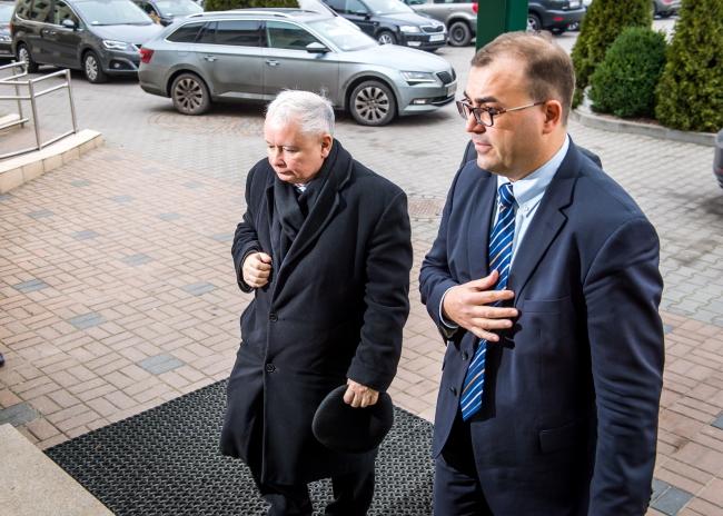 Jarosław Kaczyński (L) is the leader of the PiS party. Photo: PAP/Tytys Żmijewski