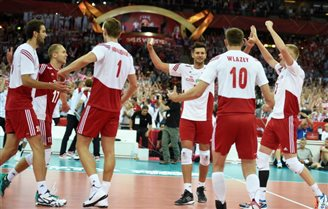 Poland beats Serbia in volleyball championship opener