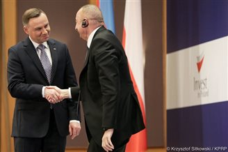 Polish, Azerbaijani presidents discuss economic issues
