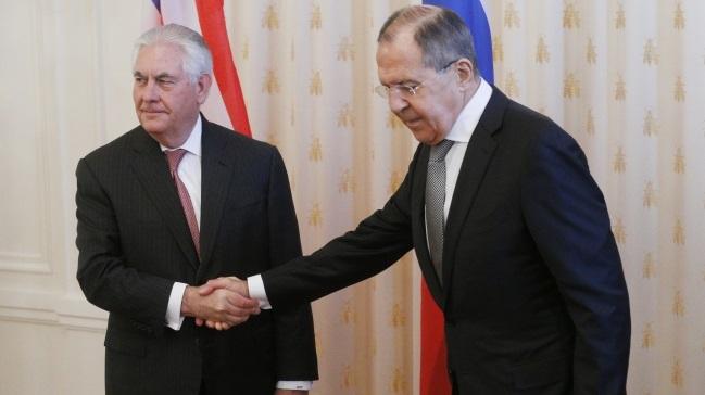 Rex Tillerson i Siergiej Ławrow