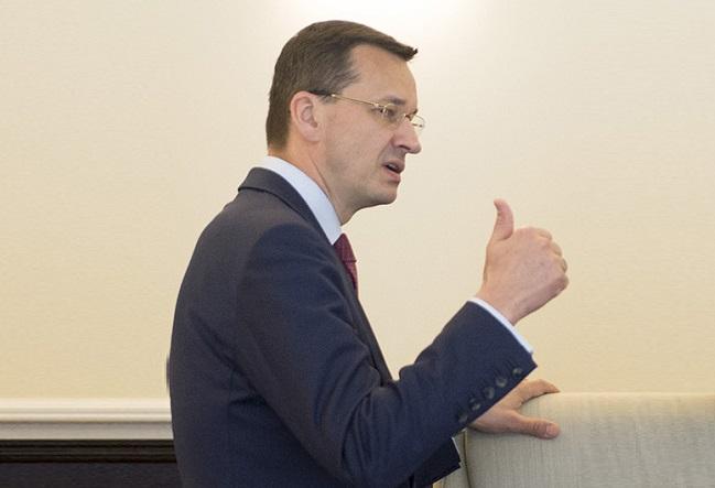 Mateusz Morawiecki begrüßt den Vertragsentwurf für den Austritt Großbritanniens aus der Europäischen Union.
