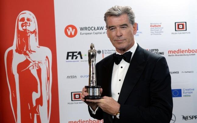 Pierce Brosnan at the European Film Awards in Wrocław. Photo: PAP/Jacek Turczyk