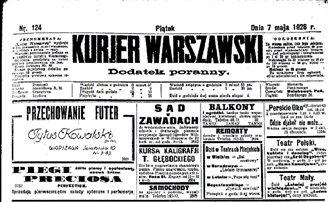 Гісторыя «Варшаўскага кур'ера» - старэйшай польскай газэты (ФОТА)