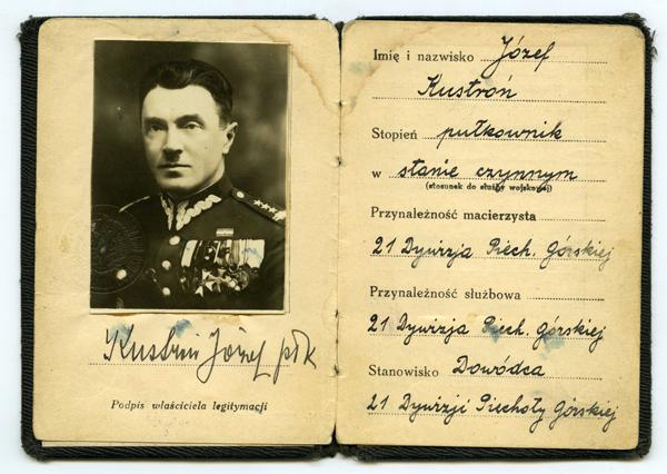 Військове посвідчення Юзефа Кустроня