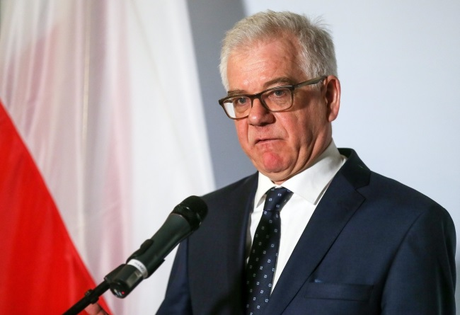 Jacek Czaputowicz. Photo: EPA/STEPHANIE LECOCQ.