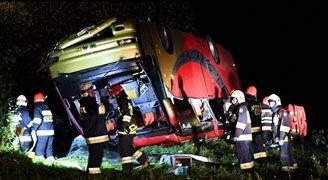 Автобус с украинскими туристами упал с обрыва. Есть жертвы