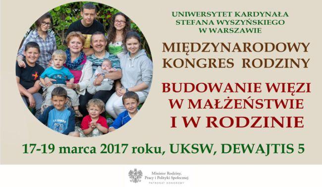 Плакат Международного конгресса семьи в Варшаве