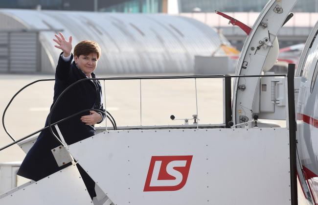 Prime Minister of Poland departs for Paris. Photo: PAP/Radek Pietruszka