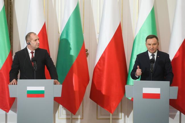 Prezydent Bułgarii Rumen Radev i prezydent RP Andrzej Duda. Foto: PAP/Paweł Supernak