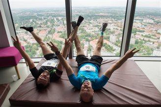 Athletes take on Poland