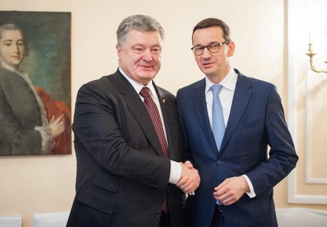 Petro Poroshenko and Mateusz Morawiecki. Photo: W. Kompała/premier.gov.pl