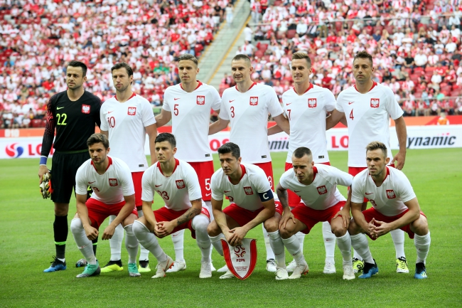 Poland's national football squad. Photo: PAP/Leszek Szymański