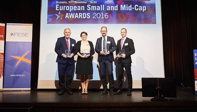 Zwycięzcy tegorocznych nagród za debiut giełdowy małych i średnich przedsiębiorstw,