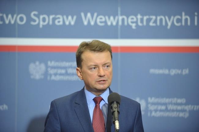Mariusz Błaszczak. Photo: PAP/Marcin Obara