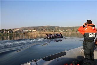 Polish border guards in Lesbos