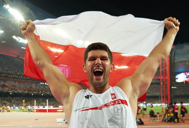 Польский спортсмен, метатель диска Роберт Убранек.