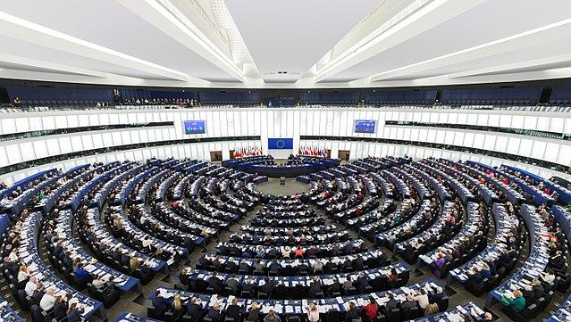 Зала засідань Європейського парламенту в Страcбурзі
