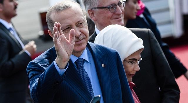 Президент Реджеп Тайип Эрдоган с визитом в Германии