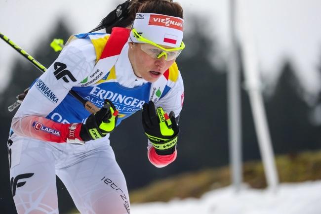 Weronika Nowakowska in action during the women's 10 km pursuit race at the IBU Biathlon World Cup in Oberhof, Germany, on Saturday. Photo: EPA/ARMANDO BABANI