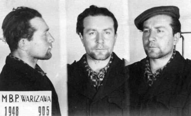 Ромуальд Райс під час арешту органами безпеки Польщі 1948 року