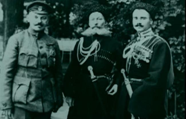 Кадр з  документального фільму про Вільне Козацтво