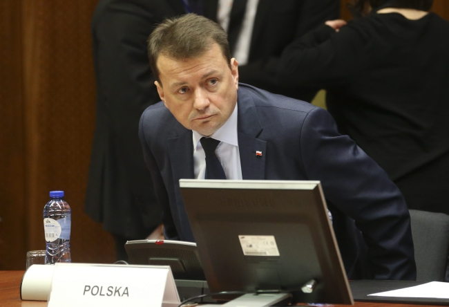 Interior Minister pf Poland Mariusz Błaszczak attends a special EU Council meeting on security, in Brussels, Belgium, 24 March 2016. EPA/OLIVIER HOSLET