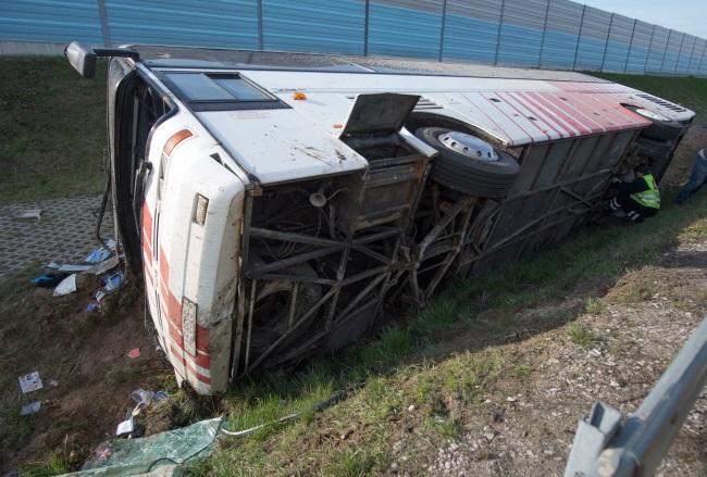 The scene of the crash. Photo: PAP/Grzegorz Michałowski