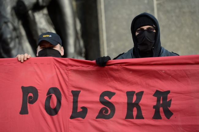 Participants of an anti-fascist demonstration on Poland's Independence Day 11.11.2012 PAP/Bartłomiej Zborowski