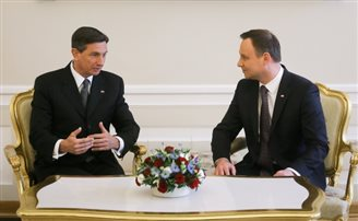 Slovenian, Polish presidents discuss immigration