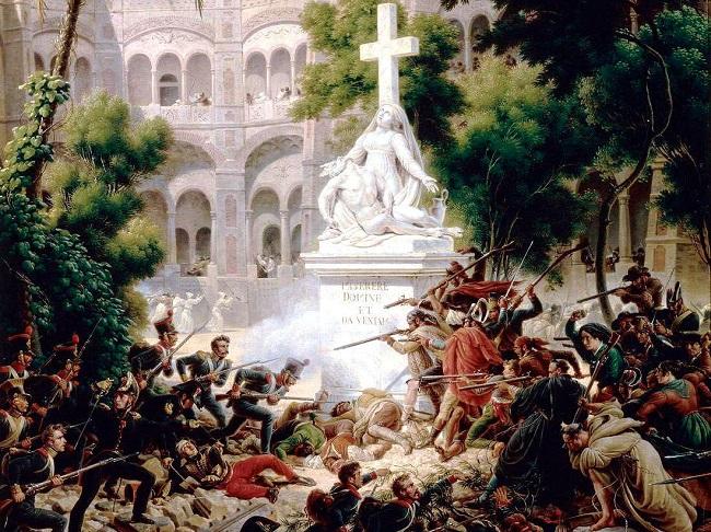 Штурм французькими військами сарагоського монастиря Санта Енграсія, 8 лютого 1809 року (фрагмент картини Луї-Франсуа Лежена)