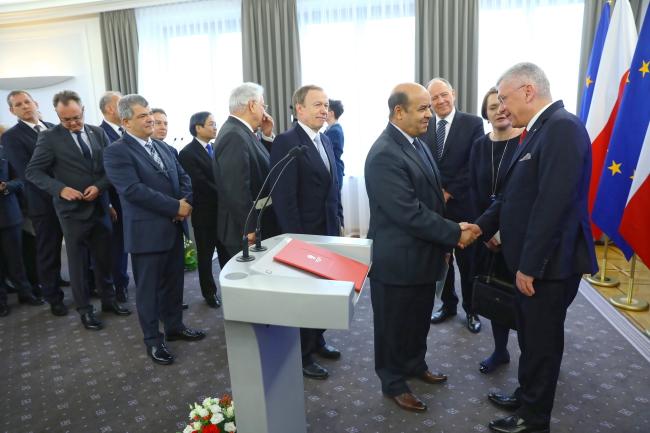 Зустріч маршала Сенату Станіслава Карчевського з дипломатичним корпусом, Варшава, 11 лютого 2019 року