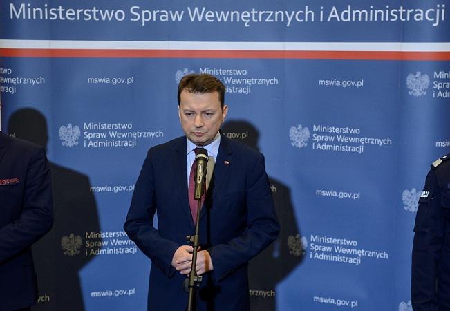 Poland's Interior Minister Mariusz Błaszczak. Photo: PAP/Jakub Kamiński.