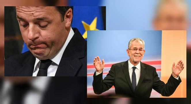 Premier Włoch Matteo Renzi i przyszły prezydent Austrii Alexander Van der Bellen