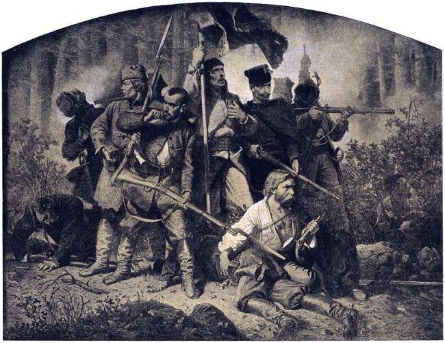 """Адам Гроттер. Графика из цикла """"Полония"""", 1863 г."""
