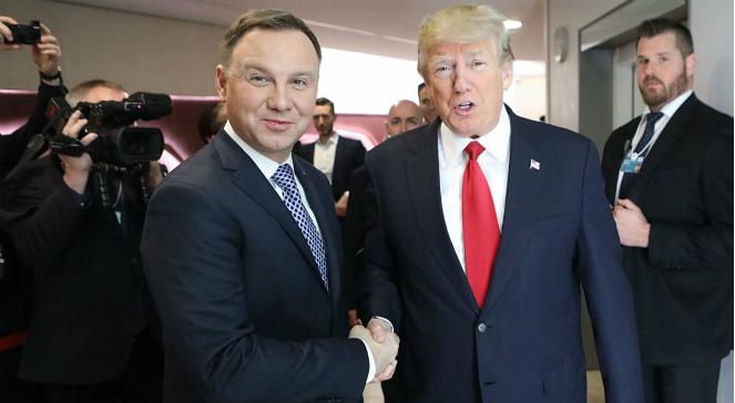 Andrzej Duda und Donald Trump in Davos