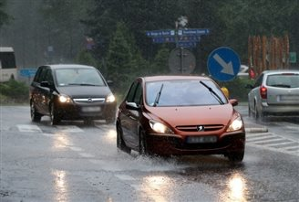 Rainfall warnings for eastern, southern Poland